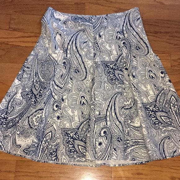 Talbots Dresses & Skirts - Talbots blue and white skirt sz 10